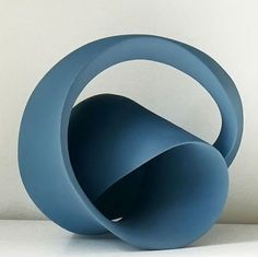 Blue Ceramic art sculpture Merete Rasmussen Clay art pottery
