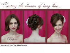 short hair wedding hair! good to know, if my hair is short at that time!