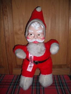 Vintage plush musical Santa - just in time for Christmas!!  On rcabinhome eBay auctions.  SOLD