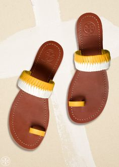 The Leather Slide The polished cousin of the flip-flop — slip on and go