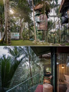Lift is one-of-a-kind boutique hotel located in a suburb of Ubud in Bali, Indonesia. It comprises three off-the-ground vacation rentals. Bali Indonesia Hotels, Ubud Indonesia, Airbnb Rentals, Vacation Rentals, Beautiful Places To Travel, Amazing Places, Treehouse Hotel, Beach Wallpaper, Thatched Roof
