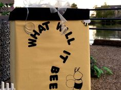 What Will It Bee Reveal Box Baby Shower