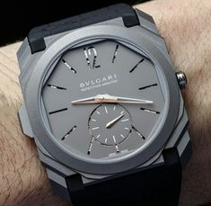 Bulgari Octo Finissimo Minute Repeater Watch Is World's Thinnest Bvlgari Watches, Luxury Watches, Big Watches, Watches For Men, Classy Men, Men's Collection, Men's Shoes, Hands, Baselworld 2016