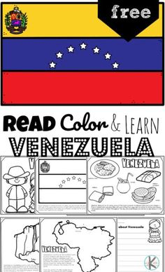 From the world's tallest waterfall, Angel Falls, to a type of guitar known as a Cuatro, children will have fun learning about the South American country Venezuela and its culture with this FREE Printable Venezuela Coloring Pages for preschool, pre k, kindergarten, first grade, 2nd grade, 3rd grade, 4th grade, and 5th grade kids. Geography For Kids, Geography Activities, Preschool Activities, Fun Learning, Teaching Kids, Homeschool Kindergarten, Homeschooling, Free Worksheets For Kids, Facts For Kids