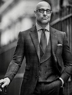 Stanley Tucci looking fabulous in a three piece check with double breasted waistcoat. Effortless style! The Whipped Cat Bespoke Tailors make Savile Row Quality Bespoke Suits for personal and corporate clients throughout the UK. Contact us now to book a consultation with one of our Travelling Tailors. Please call: 01728 726545 or email: enquiries@thewhippedcat.com