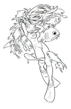 Scuba Girl 1 by alohalilo
