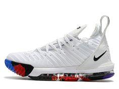 e601212ccef7d Nouveau Nike LeBron 16 Chaussures De BasketBall Pas Cher Prix Homme Blanc  bleu rouge AO2588_I113-