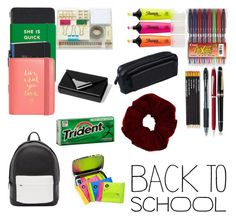 """What´s in my Backpack"" by emma-esselmark on Polyvore featuring Smythson, Montblanc, Cross, Kate Spade, Dot & Bo, Alexander Wang, Sharpie, PB 0110, BackToSchool and inmybackpack"