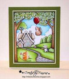 Card / Scene by Francine - milleetunecartes.blogspot.com #cardmaking #scene #craft #crafting #papercrafts #crafts #coloring #copic #copiccoloring #card #carte  #garden #spring #pennyblack #pennyblackstamps