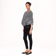 Maternity toothpick jean in pitch black wash WHERE WERE YOU ONE YEAR AGO JCREW