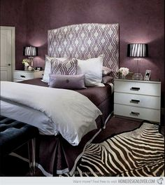 Looking for Purple Bedroom ideas? Browse Purple Bedroom images for decor, layout, furniture, and storage inspiration from HGTV. Dark Purple Bedrooms, Purple Bedroom Design, Purple Rooms, Bedroom Designs, Romantic Purple Bedroom, Black Bedrooms, Bedroom Colors, White Bedroom Chair, Gray Bedroom