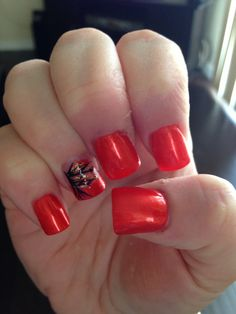 Fall nails with burnt orange color!