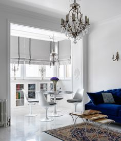 〚 White apartment with hidden kitchen in Moscow sqm) 〛 ◾ Photos ◾Ideas◾ Design Decor, Small Living Rooms, Interior, Home, White Apartment, Window Decor, Small Living Room, Apartment Decor, Interior Design