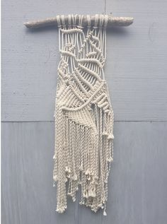 """""""devil in the shape of a woman"""" macrame wall hanging, kaysie condron 2015"""