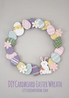 Cardboard Easter Wreath