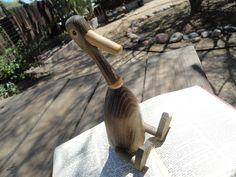 Mid Century Modern Zoo-Line Kay Bojesen Style Large Wood Duck on Etsy, $50.00