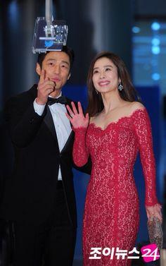 Kim Hyun Joo and Ji Jin Hee SBS Drama Awards 2015