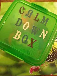 Calm Down Box--maybe for a toddler