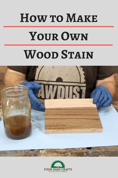 Learn how to make your own wood stain. This video tutorial will show you step-by-step how to make a stain that will give your projects a rustic look. It's very easy to make with a few items you may already have in your house. Rustic Wood Decor, Wood Home Decor, Diy Home Decor, Woodworking Projects Diy, Diy Projects, Wood Crafts, Diy Crafts, Make Your Own, Make It Yourself