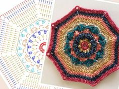 """PART 1 - ♡ Carousel Blanket CAL (Crochet ALong) 2016 (Sept. 13 - Nov. 15) - Created By Sue Pinner - Free Crochet Pattern - In US & UK Terms, and also in German and Dutch. PATTERN Available on Stylecraft Yarn's CAL Page. You may use the Designer's colors or your own. ***Make sure to join the Facebook Group """"Official Stylecraft Sue Pinner CAL"""" (link on the Ravelry page also) for help, ideas, support, so much more!! ... it's a great Group with wonderful people!!!"""