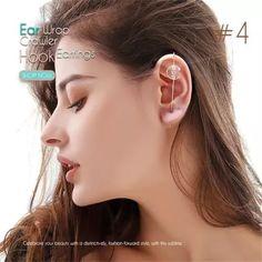 US$ 18.9 - Ear Wrap Crawler Hook Earrings - m.sheinv.com Belly Button Piercing, Lip Piercing, Ear Piercings, Makeup Art, Eye Makeup, Magnetic Eyelashes, Ear Gauges, Ear Jewelry, Cool Things To Buy
