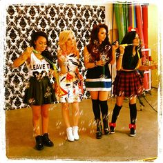 Bubble time at the Little Mix Tiger Beat shoot!