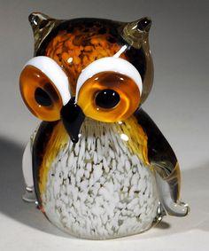Look at this #zulilyfind! Amber & White Owl Figurine #zulilyfinds