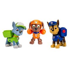 Nickelodeon, Paw Patrol - Action Pack Pups Figure Set Chase, Rocky, Zuma >>> Find out more details @ Zuma Paw Patrol, Paw Patrol Toys, Paw Patrol Action Figures, Personajes Paw Patrol, Pet News, Dogs And Kids, Christmas Toys, Christmas 2014, Christmas Presents