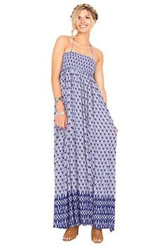 The Sugarlips Winding Road Dress is an abstract printed smocked maxi dress that you can wear as a halter. Cutouts on back. Price : $67.00 #MyLuluCloset #Sugarlips #NewArrivals