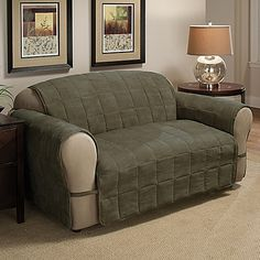 Quilted Twill Furniture Covers 27 95 Sofa Inexpensive Pet Friendly Option For Rv
