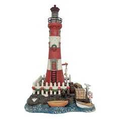 St. Nicholas Square® Village Lighthouse, Multicolor