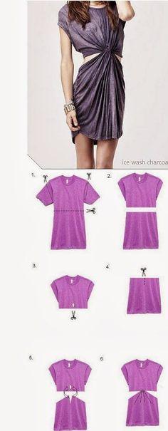 Vestido com recorte na cintura muito facil: 15+ tutoriais DIY para você repaginar ou criar peças de vestuário SEM COSTURA para o CARNAVAL | Mamãe Plugada