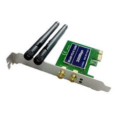 ﹩39.99. 300Mbps 11N WiFi PCI-E Wireless Network Adapter LAN Card Antennas Desktop PC    EAN - Does Not Apply, Interface Card Type - Ethernet/ Network Cards, Compatible Port/Slot - PCI Express Slot, Type - Wireless,