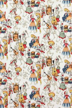 1 yrd SALE Rare Alexander Henry White Ground Day of the Dead Dio de los muertos sewing Cotton Fabric 1 yrd Mexican Celebrations, Mexican Fabric, Skull Fabric, Fabric Art, Alexander Henry Fabrics, Day Of The Dead Skull, Art Gallery Fabrics, Pics Art, Pattern Wallpaper