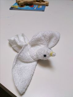 washcloth bird
