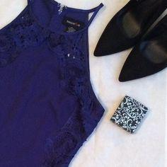 SUPER SASSY BLUE HALTER TOP DRESS !!!! Super sassy little blue halter top dress with floral designs!!! (She'll: 95% polyester 5%spandex-Contrast 100% polyester) Teeze Me Dresses Mini
