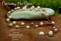Shop the biggest pearl party of the year! Save 15% on all Fine Pearls + Leather Jewelry®