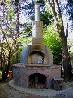 round pizza oven; round stand