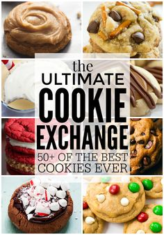 Hey hey it's Tiffany from Creme de la Crumb here to share the ULTIMATE Cookie Exchange with more than 50 . Cookies Cupcake, Xmas Cookies, Yummy Cookies, Brownie Cookies, Cupcakes, Baking Recipes, Cookie Recipes, Dessert Recipes, Baking Ideas