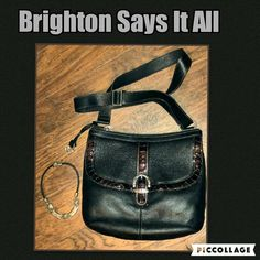 Last Markdown Brighton Mason Handbag 💗 A beautiful unique Brighton handbag. All leather magnetic closure, pocket on the front outside, top zipper closure two open pockets on the inside, two open pockets on the outside. Brighton Bags Shoulder Bags