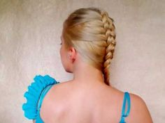 Dutch braid tutorial: inside out french plait -- she does on her own hair all the way through so you can watch her fingers and technique really well.  Great video to visually learn how to do this for yourself and change your finger positions up from the traditional french braid technique.