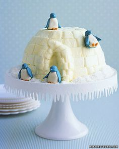 igloo snow cake