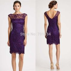 Cheap dress dying, Buy Quality dress middleton directly from China dress compare Suppliers:  Elegant Sheer Capped Sleeves Purple Lace Cocktail Dress Elegant Special Occasion Dress Sheath Custom Made Party Dresses
