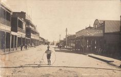 Boy with hoop - eastern Main Street (Lithgow & District Family History Society Inc.)
