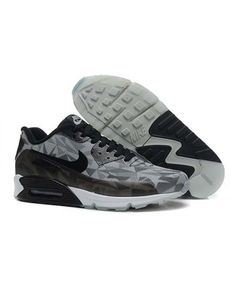 best service f8dc6 ef2dc 25TH Anniversary Nike Air Max 90 Ice Pack Men Grey Black Fluro Sneakers