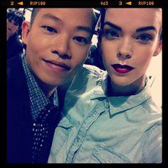 meghan collison jason wu   Meghan Collison Backstage with @Jason Wu #nyfw