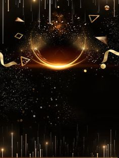 Black Halo Of Gold Scrap Gold Poster Background Material Simple Background Images, Black Background Wallpaper, Poster Background Design, Retro Background, Creative Background, Party Background, Simple Backgrounds, Background Pictures, Lights Background