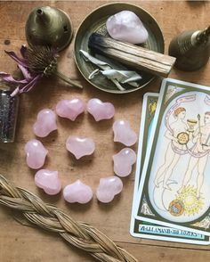 If you're looking for some tangible assurance that you're on your right path in life, today's feng shui is for you! Crystal Magic, Rose Quartz Crystal, Altar, Astrology Pisces, Crystal Aesthetic, Witch Aesthetic, Heart Chakra, Krystal, Feng Shui