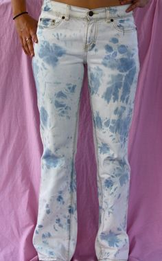 Bleached jeans!