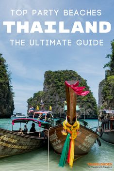 Thailand is known for its islands and accompanying beach parties. This guide includes all of the best Thai Islands and beaches for partying and festivals from Phuket to Koh Phangan and beyond. Travel in Southeast Asia. | Travel Dudes Travel Community #Thailand